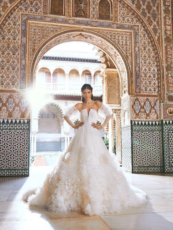 parte delantera vestido novia princesa timimun
