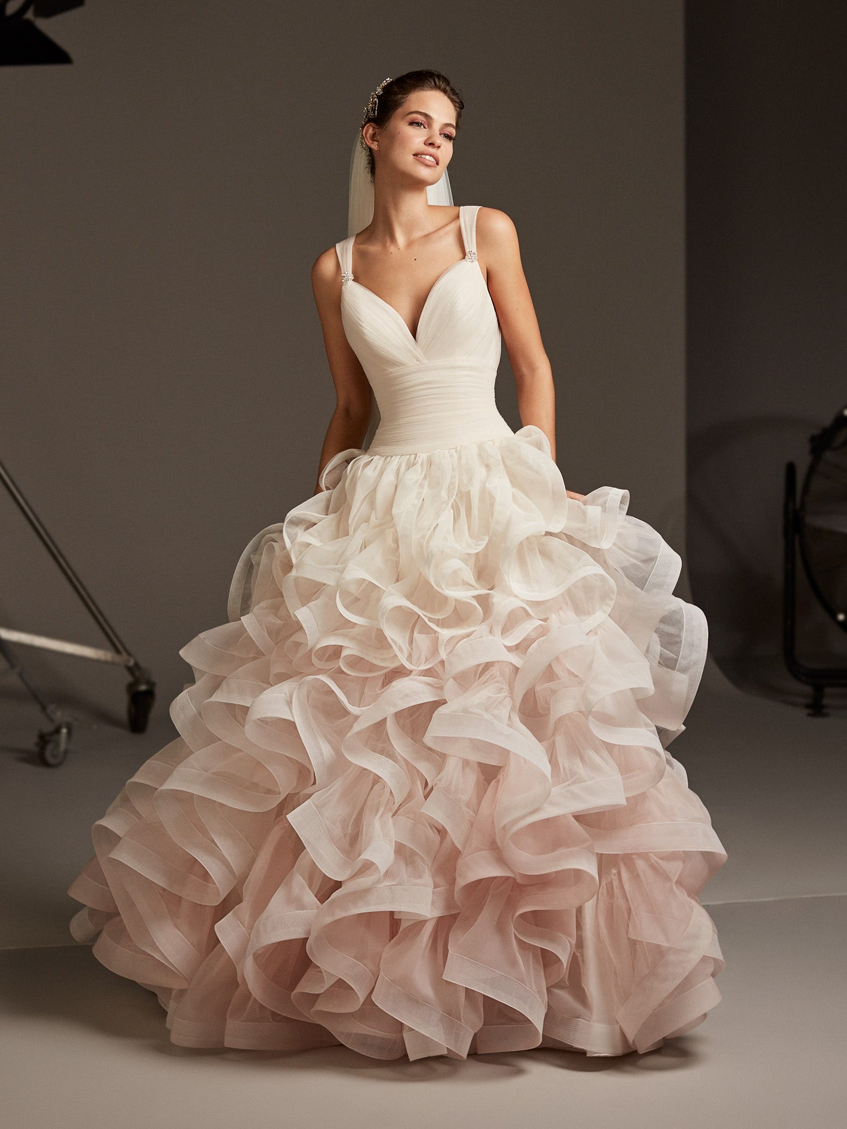 Pronovias Collection Discover Ruffled Wedding Dresses Lp