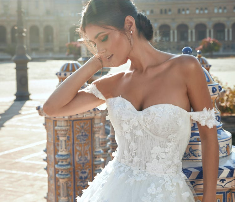 Carrasco wedding dress Marchesa x Pronovias